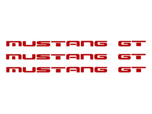 1987-93 Mustang GT Rear Bumper Insert Decals, Red  Also Fits GT Ground Effects
