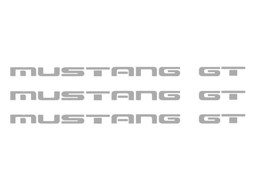 1987-93 Mustang GT Rear Bumper Insert Decals, Sliver       Also Fits GT Ground Effects