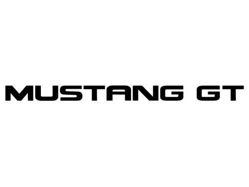 Mustang Rear Bumper Insert Decals Black (94-98)
