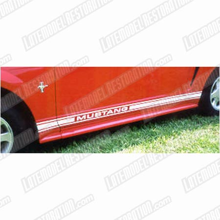 Mustang Side Stripes White  (79-04)