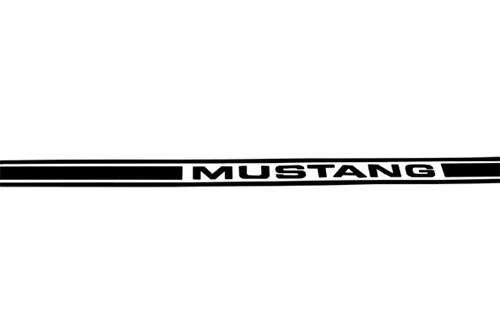 Mustang Side Stripes Black (79-04) N360 MUSTANG BLACK