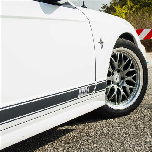 Mustang Mach 1 Side Stripes Matte Black (03-04)