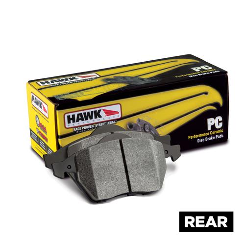 Hawk Performance Mustang Rear Brake Pads - Ceramic (05-14) HB485Z.565