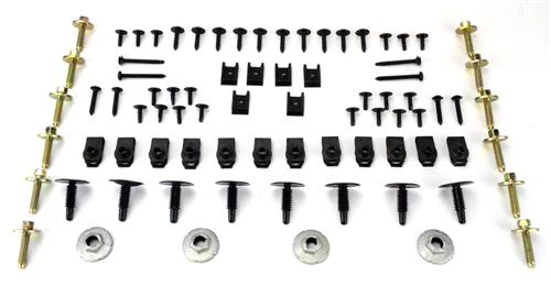 Picture of 1986-93 Mustang Exterior Hardware Starter  Kit This Is Some Of The Hadware Normally Needed To Assemble Fenders And Various Trim Parts To The Exterior Of 1986-93 Mustang. Contents Are As Fol