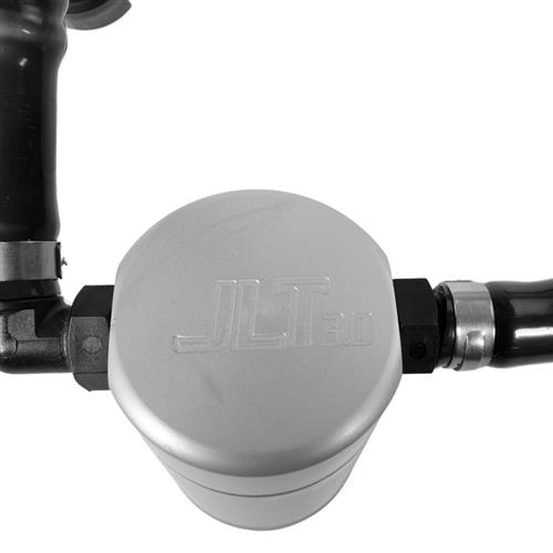 JLT Mustang 3.0 Oil Separator, Passenger's Side Clear Anodized (11-17) - V6