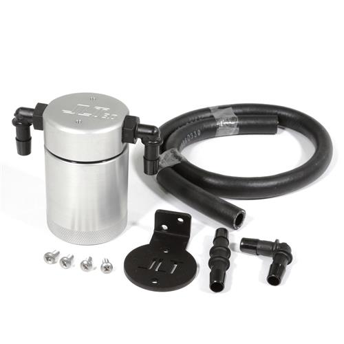 JLT Mustang 3.0 Oil Separator for Driver Side  - Clear Anodized (96-01) Cobra-Bullitt 3015D-C