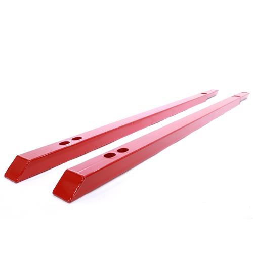 J&M Mustang Convertible Low Profile Jacking Rails - Red (15-17) 25500R