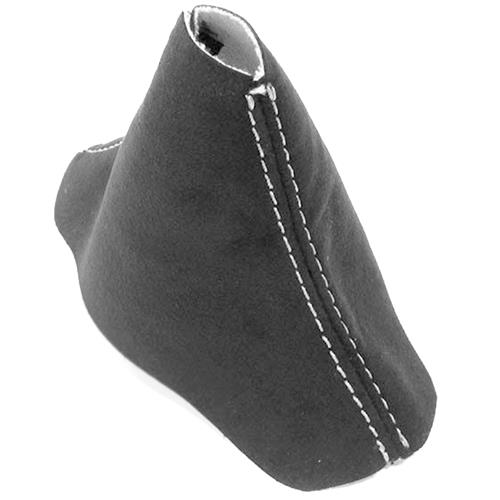 Mustang JPM Coachworks Alcantara Shift Boot - Automatic  - Charcoal w/ Silver Stitching (15-17)