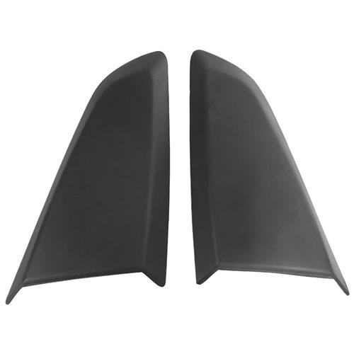 Scott Drake Mustang Quarter Window Scoop - Satin Black (15-20) Coupe