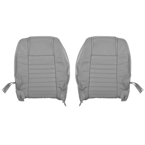 Katzkin Mustang Factory Style Leather Seat Upholstery - W/ Side-Impact Airbag - Light Graphite (05-09)