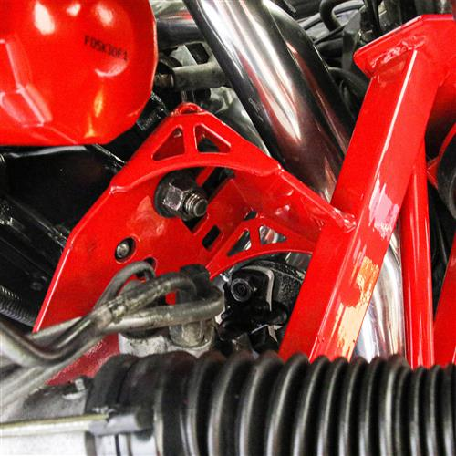 BMR Mustang Premium Tubular K-Member With Spring Perches  - Red (79-95) KM733R