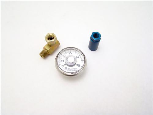 Mustang Mechanical Fuel Pressure Gauge 0-100 Psi  w/ Connector (86-98)