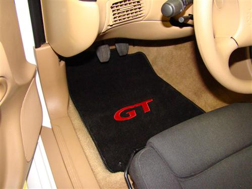 Mustang Floor Mats w/ GT Logo Black/Red (94-04) 12161