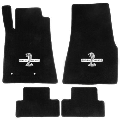 Lloyd  Mustang Floor Mats With GT500 Logo Black (07-10) 112051