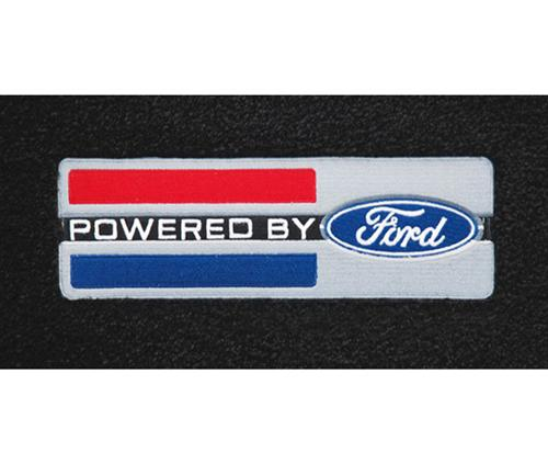 Mustang Floor Mats w/ Powered By Ford Logo Black (79-93) 3295170/47661/47602/960V829049