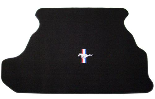 Mustang Trunk Mat w/ Pony Logo Black (87-93)