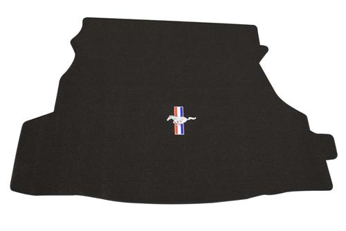 2005-06 Mustang Coupe Black Trunk Mat with Pony Logo, Without Shaker 1000