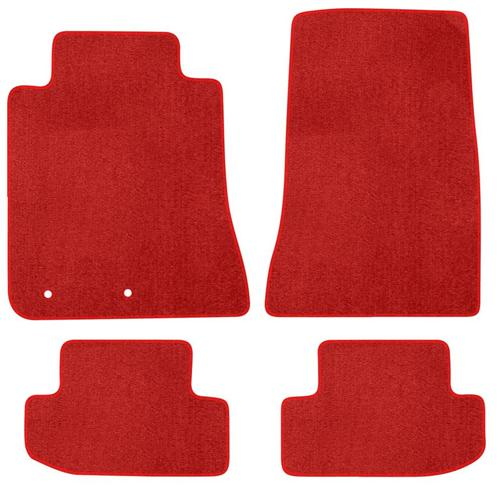2015 MUSTANG RED FLOOR MATS- Plain