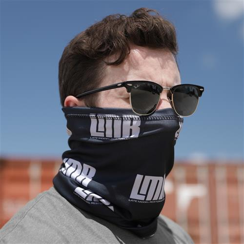 LMR Premium Neck Gaiter - Black/White