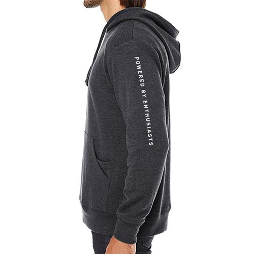"LMR ""Powered By Enthusiasts"" Hoodie - Large  - Black Heather"