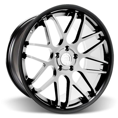 Mustang Downforce Wheel - 20x8.5 Matte Black w/ Machined Face (05-16)
