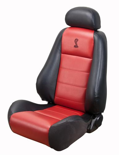 Mustang Cobra Convertible Leather Seat Upholstery w/ Red Leather Inserts (03-04) 10th Anniversary 43-77523-L741-L7300-A