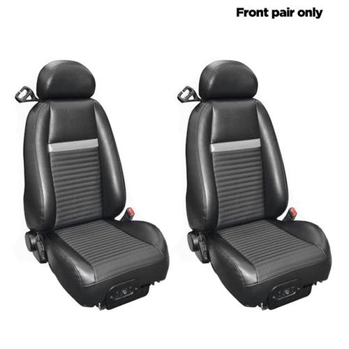TMI Mustang Mach 1 Front Seat Upholstery - Vinyl (03-04) 43-76003-6042-6042P-402S