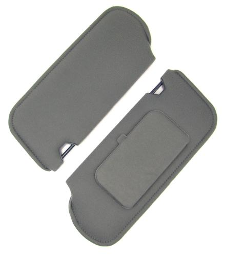 TMI Mustang Sun Visors with Vanity Mirror Dark Gray Cloth (85-86) 21-73005-1769