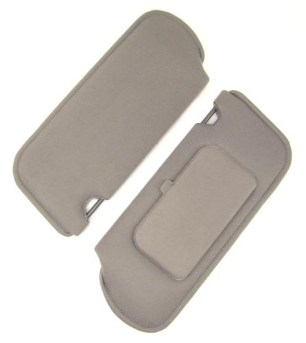 TMI Mustang Sun Visors with Vanity Mirror Smoke Gray Cloth (87-89) 21-73005-1853X