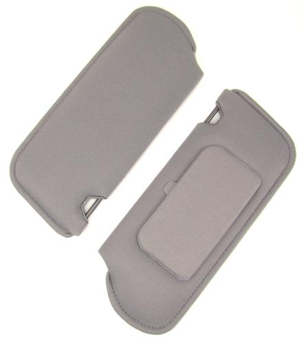 TMI Mustang Sun Visors with Vanity Mirror Opal Gray Cloth (1993) 21-73005-2000