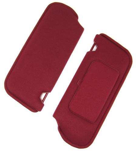 TMI Mustang Sun Visors with Vanity Mirror Ruby Red Cloth (1993) 21-73005-1998