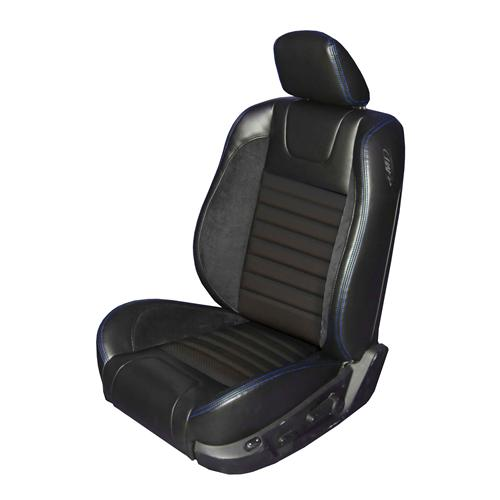 Mustang Sport R Upholstery Black/Blue Stitching Vinyl (05-07) GT-V6 Coupe