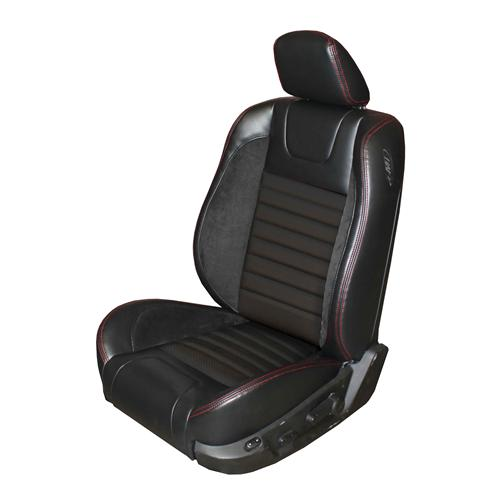 Mustang Sport R Upholstery Black/Red Stitching Vinyl (05-07) GT-V6 Coupe