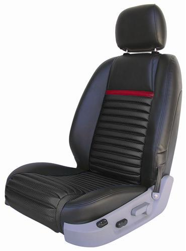 Mustang Mach 1 Upholstery Black,Red Stripe Vinyl (05-07) GT-V6 Convertible