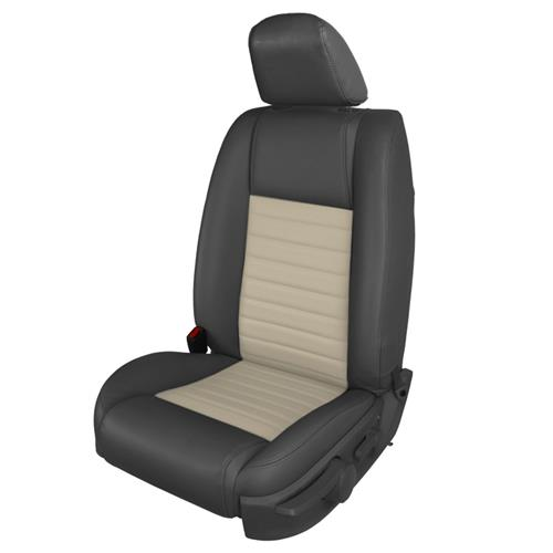 TMI Mustang GT/CS Vinyl Front Seat Upholstery Kit - Non-Airbag  - Dark Charcoal/Parchment (05-09) 43-78142-6525-992