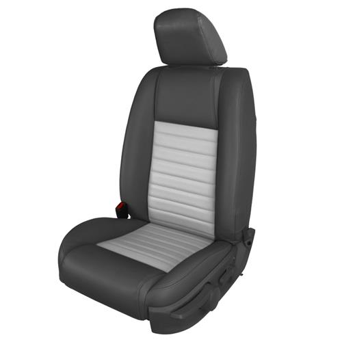 TMI Mustang GT/CS Vinyl Front Seat Upholstery Kit - Non-Airbag  - Dark Charcoal/Dove Gray (05-09) 43-78142-6525-5354AP