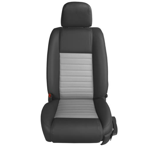 TMI Mustang GT/CS Vinyl Front Seat Upholstery Kit - Airbag  - Dark Charcoal/Dove Gray (05-09) 43-78143-6525-5354AP