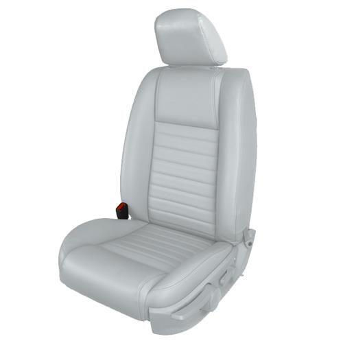 TMI Mustang Vinyl Front Seat Upholstery Kit - Airbag  - Light Graphite (05-09) GT 43-78143-986-992