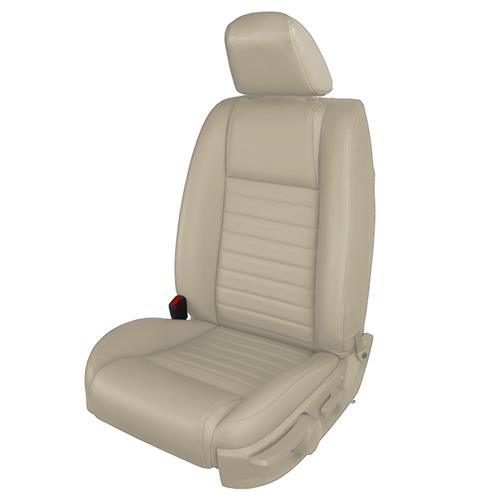 TMI Mustang Vinyl Front Seat Upholstery Kit - Airbag  - Parchment (05-09) GT 43-78143-985-993