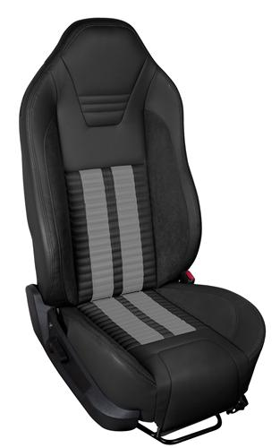 TMI Mustang Sport R500 Upholstery Kit BLK/GRY for Side Airbag Equip'd Cars (05-10) Coupe