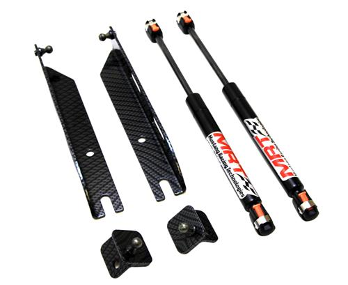 2005-13 Mustang Mrt Hood Struts, No Drill, Carbon Fiber Finish