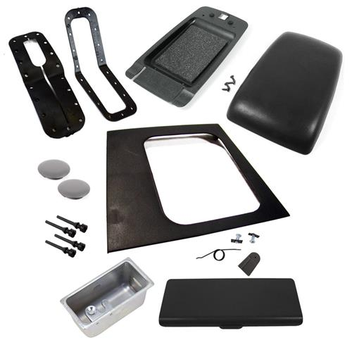 1987-1993 FORD MUSTANG BLACK AUTO CONSOLE RESTO KIT W/ ARM REST