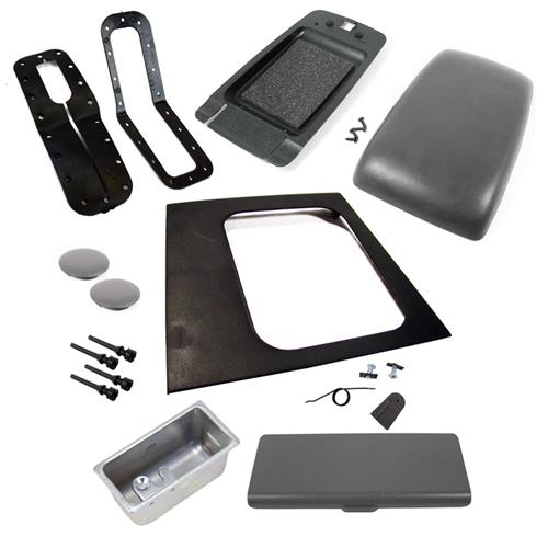 1987-1993 FORD MUSTANG SMOKED GREY AUTO CONSOLE RESTO KIT W/ ARM REST