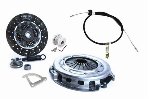 Picture of 1986-95 Mustang Exedy Mach 400 Stage 1 Clutch Kit with Clutch Cable, Quadrant, & Firewall Adjuster.  Kit Consists Of:  Exd-07800 Lrs-7553A