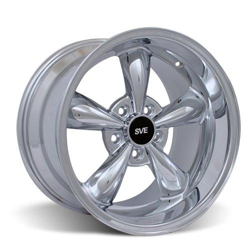 Mustang Deep Dish Bullitt Wheel - 17X10.5 Chrome (94-04) - Mustang Deep Dish Bullitt Wheel - 17X10.5 Chrome (94-04)
