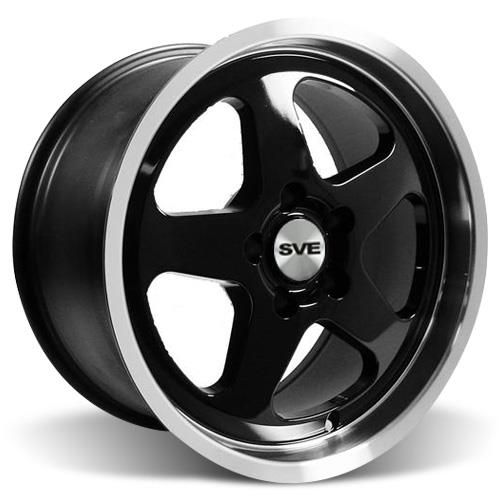 Mustang SC Wheel - 17X9 Black W/ Machined Lip (94-04)