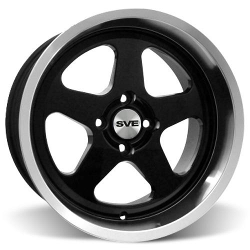 Mustang Deep Dish SC Wheel - 17X10 Black (79-93)