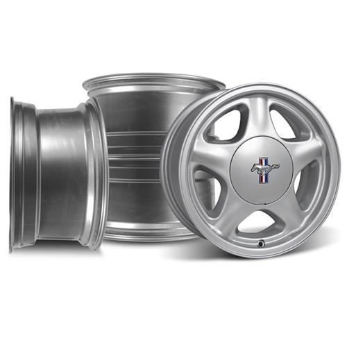 Mustang Pony Wheel & Center Cap Kit - 17x8 Silver (79-93)