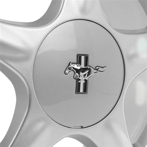 Mustang Pony Wheel & Ford Licensed Center Cap - 17x9 Silver (79-93)