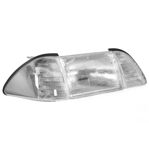 Mustang Headlight Kit w/ Clear Sidemarkers (87-93)